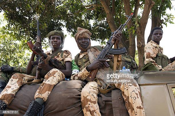 Chadian soldiers gather at the Misca military base before leaving Bangui Central African Republic on April 4 2014 Chadian soldiers killed at least 30...