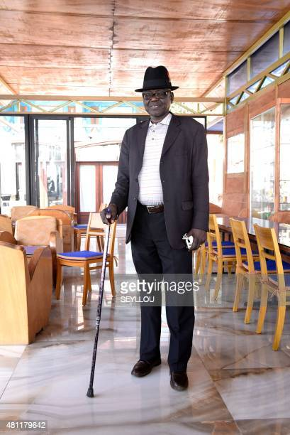 YAS Chadian Souleymane Guengueng one of the victims who has registered in the trial against former Chadian dictator Hissene Habre poses at a horel in...