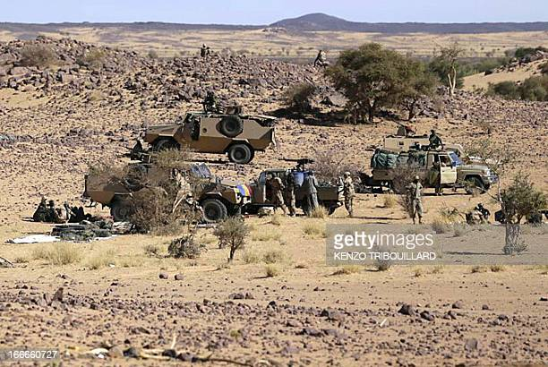 Chadian troops prepare on March 14 2013 in the desert near Tessalit northern Mali Chad's parliament voted overwhelmingly on April 15 2016 for a...