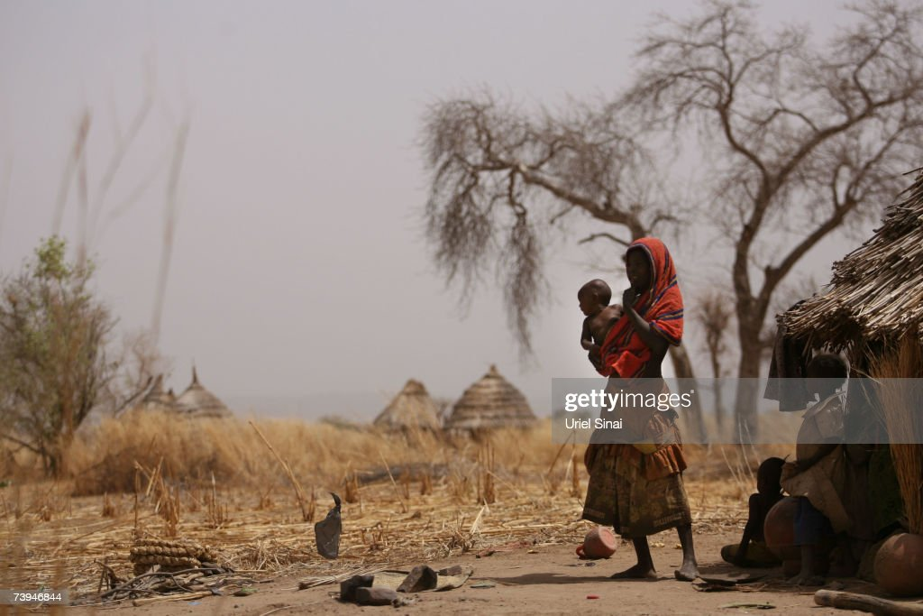 Sudanese Refugees Live In UN Camp After Fleeing The War In Darfur : News Photo