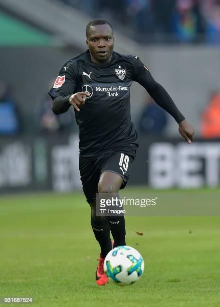 Chadrac Akolo Ababa of Stuttgart controls the ball during the Bundesliga match between 1 FC Koeln and VfB Stuttgart at RheinEnergieStadion on March 4...