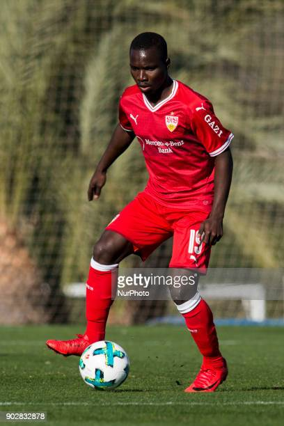 Chadrac Akolo during the friendly match between Stuttgart vs Oostende at La Manga Club Murcia SPAIN 08th January of 2018