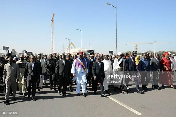 Chad's Prime Minister Kalzeube Pahimi Deubet President of Chad's National Assembly Haroun Kabadi President of Chad's coucil of Islamic Affairs Cheikh...