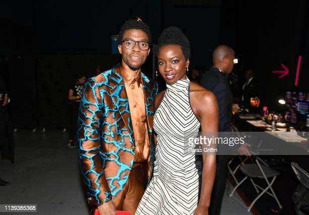 Chadwick Boseman and Danai Gurira attend the 50th NAACP Image Awards at Dolby Theatre on March 30 2019 in Hollywood California