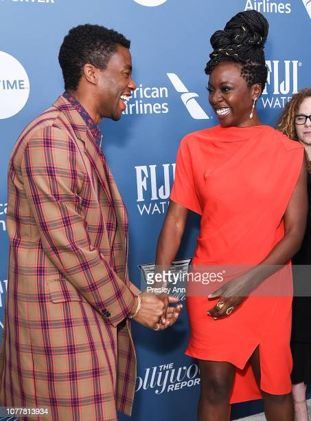 Chadwick Boseman and Danai Gurira attend The Hollywood Reporter's Power 100 Women In Entertainment at Milk Studios on December 05 2018 in Los Angeles...