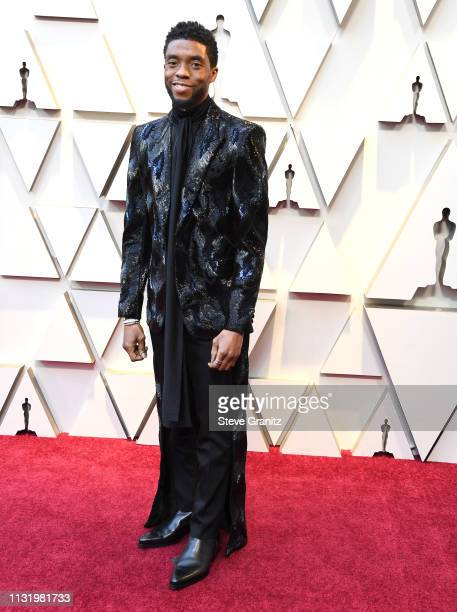 Chadwick Boseman arrives at the 91st Annual Academy Awards at Hollywood and Highland on February 24, 2019 in Hollywood, California.