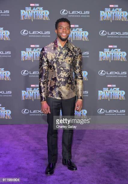 Chadwick Boseman arrives for the World Premiere of Marvel Studios' Black Panther presented by Lexus at Dolby Theatre in Hollywood on January 29th