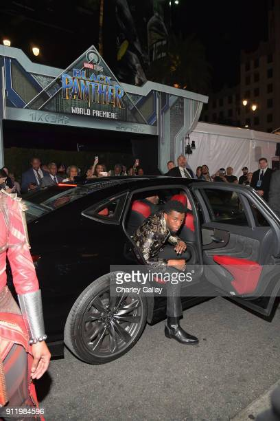 Chadwick Boseman arrives in the allnew 2018 Lexus LS for the World Premiere of Marvel Studios' Black Panther in Hollywood on January 29th