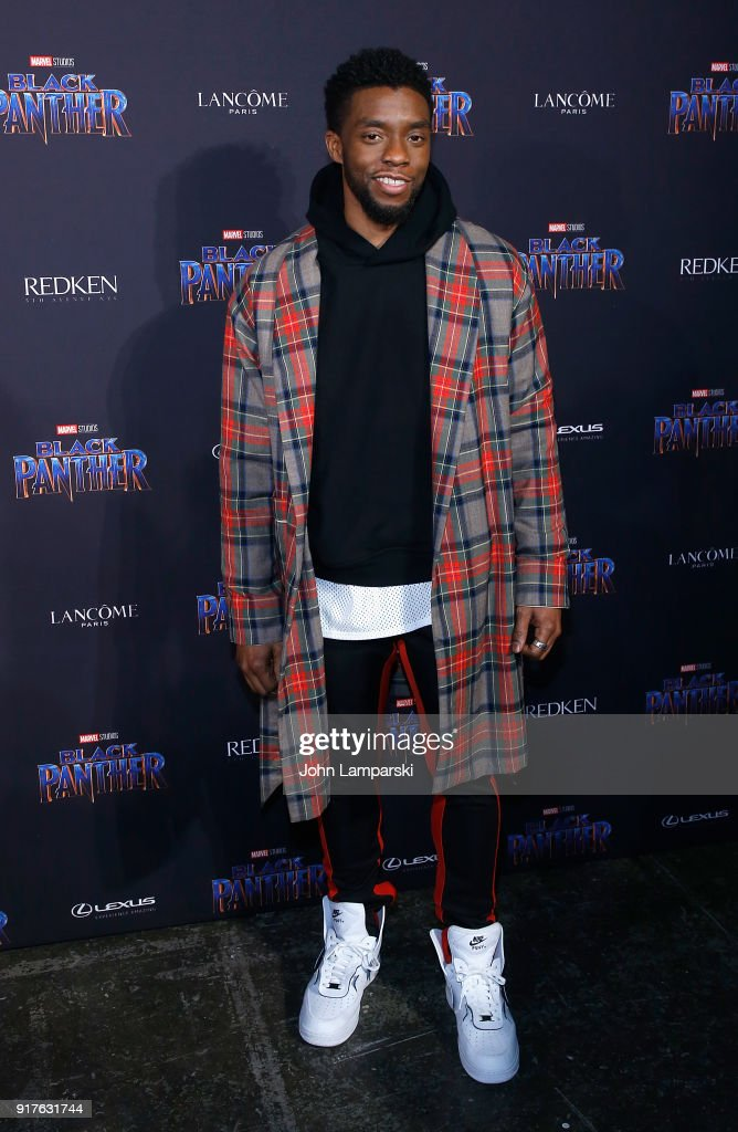 Chadwick Boseman attends Marvel Studios Presents: Black Panther Welcome To Wakanda during February 2018 New York Fashion Week: The Shows at Industria Studios on February 12, 2018 in New York City.