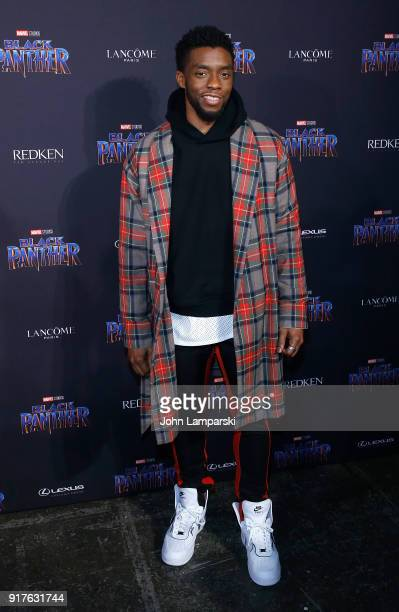 Chadwick Boseman attends Marvel Studios Presents Black Panther Welcome To Wakanda during February 2018 New York Fashion Week The Shows at Industria...