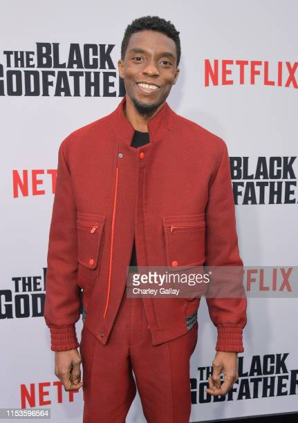Chadwick Boseman attends Netflix world premiere of THE BLACK GODFATHER at the Paramount Theater on June 03 2019 in Los Angeles California
