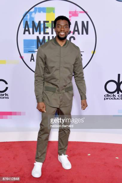 Chadwick Boseman attends the 2017 American Music Awards at Microsoft Theater on November 19 2017 in Los Angeles California