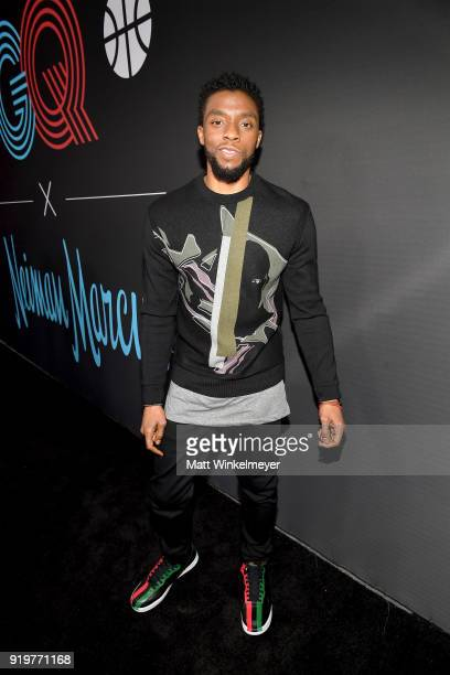 Chadwick Boseman attends the 2018 GQ x Neiman Marcus All Star Party at Nomad Los Angeles on February 17 2018 in Los Angeles California