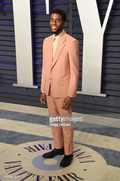 Chadwick Boseman attends the 2019 Vanity Fair Oscar Party hosted by Radhika Jones at Wallis Annenberg Center for the Performing Arts on February 24...