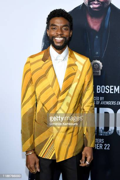 Chadwick Boseman attends the 21 Bridges New York Screening at AMC Lincoln Square Theater on November 19 2019 in New York City