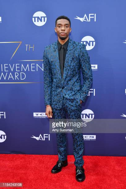 Chadwick Boseman attends the 47th AFI Life Achievement Award honoring Denzel Washington at Dolby Theatre on June 06 2019 in Hollywood California...
