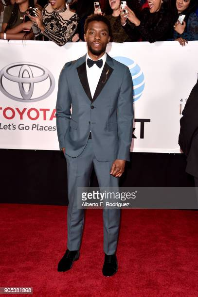 Chadwick Boseman attends the 49th NAACP Image Awards at Pasadena Civic Auditorium on January 15 2018 in Pasadena California