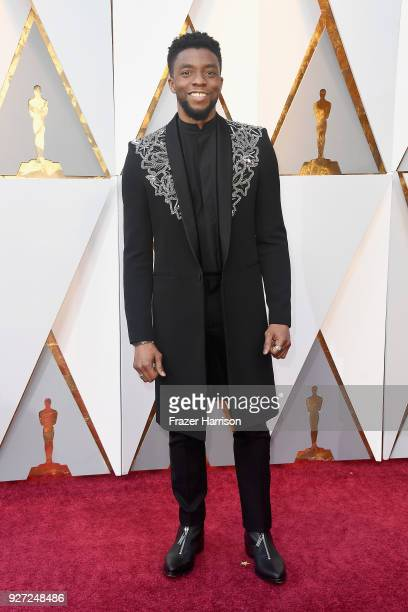Chadwick Boseman attends the 90th Annual Academy Awards at Hollywood Highland Center on March 4 2018 in Hollywood California