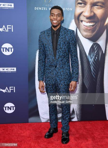 Chadwick Boseman attends the American Film Institute's 47th Life Achievement Award Gala Tribute to Denzel Washington at Dolby Theatre on June 06,...