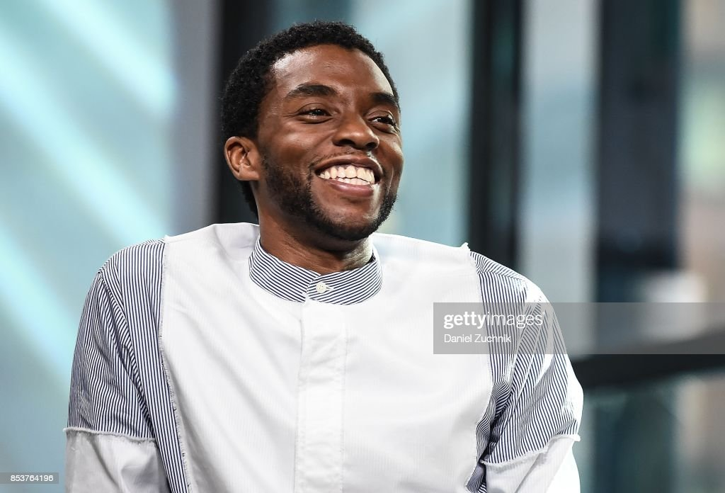 Chadwick Boseman attends the Build Series to discuss the new movie 'Marshall' at Build Studio on September 25, 2017 in New York City.