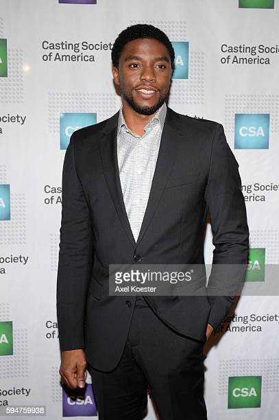 Chadwick Boseman attends The Casting Society of America's 30th Annual Artios Awards Banquet at the Beverly Hilton Hotel Thursday evening