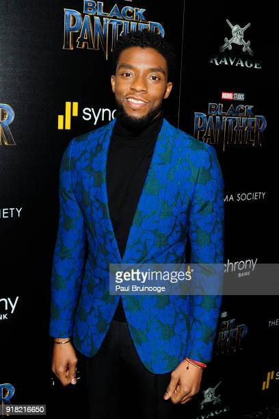 Chadwick Boseman attends The Cinema Society with Ravage Wines Synchrony host a screening of Marvel Studios' 'Black Panther' at The Museum of Modern...