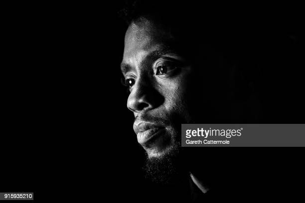 "Chadwick Boseman attends the European Premiere of Marvel Studios' ""Black Panther"" at the Eventim Apollo, Hammersmith on February 8, 2018 in London,..."
