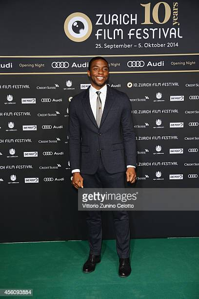 Chadwick Boseman attends the 'Get On Up' Opening Film and Opening Ceremony of the Zurich Film Festival 2014 on September 25 2014 in Zurich Switzerland