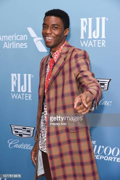 Chadwick Boseman attends The Hollywood Reporter's Power 100 Women In Entertainment at Milk Studios on December 05 2018 in Los Angeles California