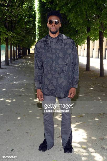 Chadwick Boseman attends the Louis Vuitton Menswear Spring/Summer 2019 show as part of Paris Fashion Week on June 21 2018 in Paris France
