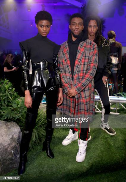 Chadwick Boseman attends the Marvel Studios Black Panther Welcome to Wakanda New York Fashion Week Showcase at Industria Studios on February 12 2018...