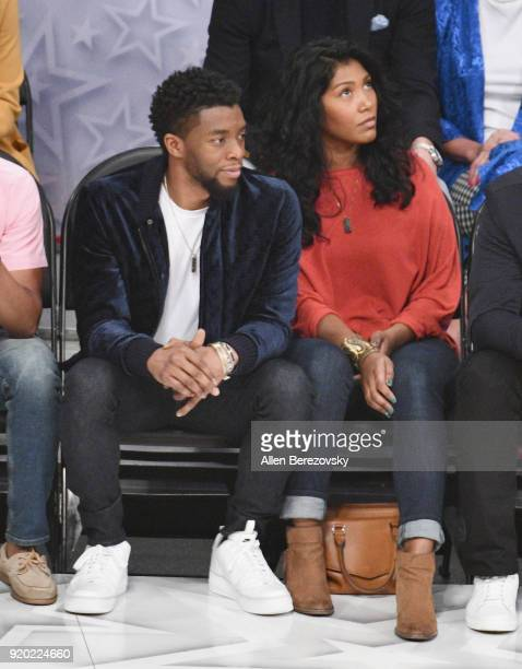 Chadwick Boseman attends the NBA AllStar Game 2018 at Staples Center on February 18 2018 in Los Angeles California