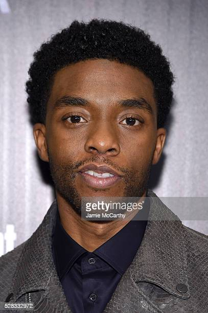 Chadwick Boseman attends the screening Of Marvel's Captain America Civil War hosted by The Cinema Society with Audi FIJI at Henry R Luce Auditorium...