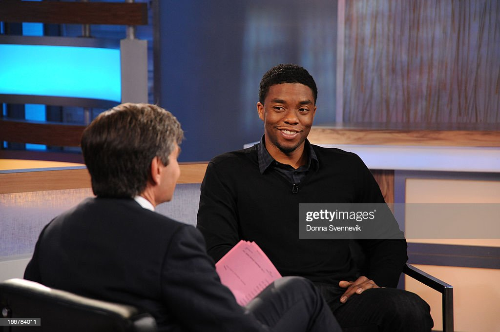 AMERICA - Chadwick Boseman is a guest on 'Good Morning America,' 4/15/13, airing on the ABC Television Network. (Photo by Donna Svennevik/ABC via Getty Images) GEORGE