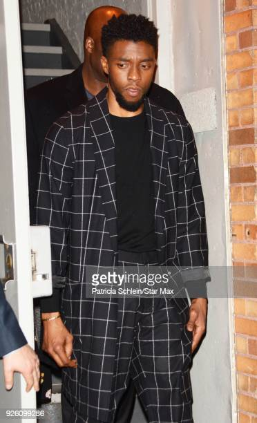 Chadwick Boseman is seen on March 1 2018 in New York City
