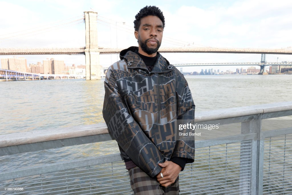 """Chadwick Boseman And The Cast of """"21 Bridges"""" In NYC : News Photo"""