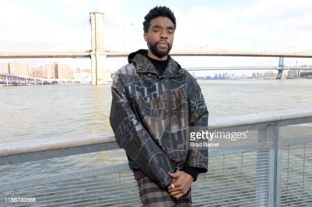 Chadwick Boseman poses for a photo at The Fulton on November 19, 2019 in New York City.