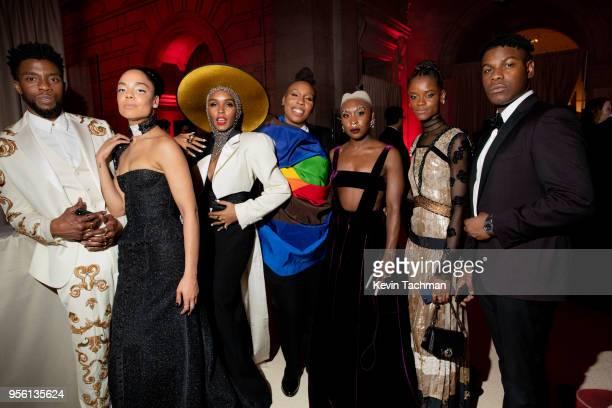 Chadwick Boseman, Tessa Thompson, Janelle Monae, Lena Waithe, Cynthia Erivo, Letitia Wright and John Boyega attend the Heavenly Bodies: Fashion & The...