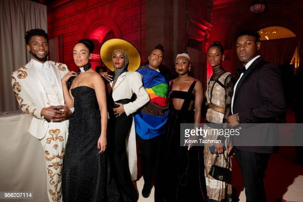Chadwick Boseman Tessa Thompson Janelle Monae Lena Waithe Cynthia Erivo Letitia Wright and John Boyega attend the Heavenly Bodies Fashion The...