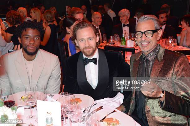Chadwick Boseman Tom Hiddleston and Jeff Goldblum attend the GQ Men of the Year Awards 2018 in association with HUGO BOSS at Tate Modern on September...