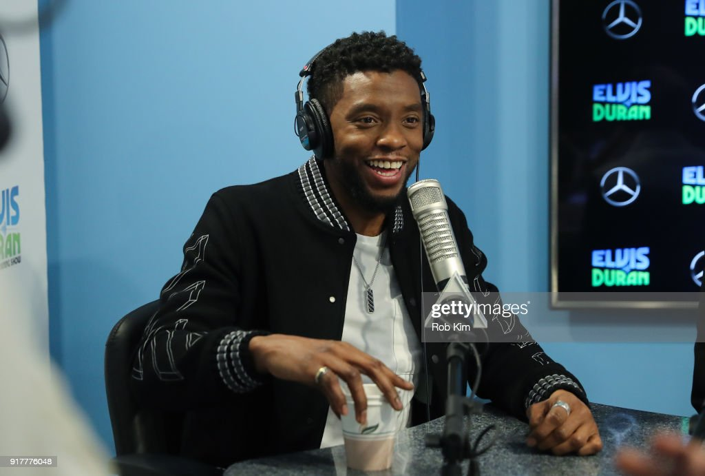 Chadwick Boseman visits 'The Elvis Duran Z100 Morning Show' at Z100 Studio on February 13, 2018 in New York City.