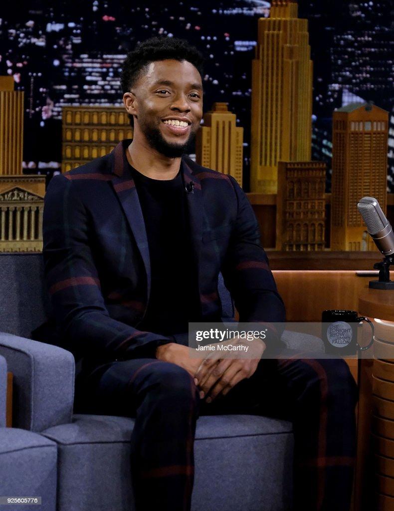 """Chadwick Boseman Visits """"The Tonight Show Starring Jimmy Fallon"""""""