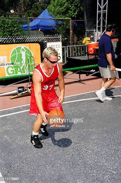 Chadwick from Road Rules during 1998 MTV's Rock n' Jock Basketball in Los Angeles California United States