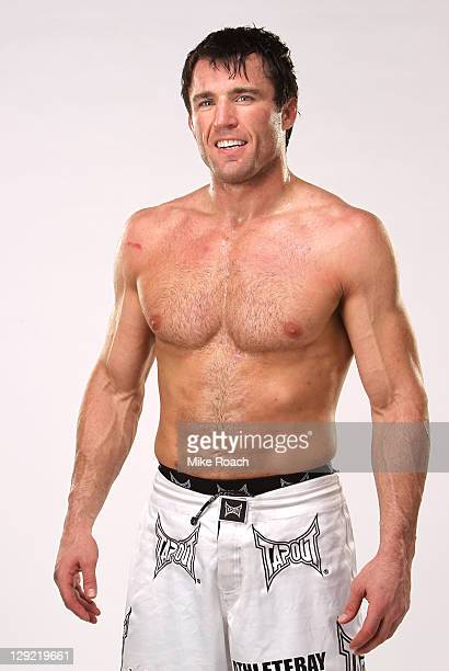 Chael Sonnen poses for a portrait backstage after his submission victory over Brian Stann during the UFC 136 event at Toyota Center on October 8 2011...