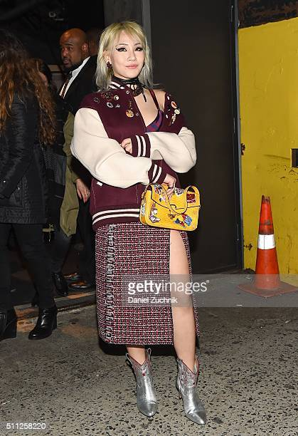 Chaelin Lee aka CL is seen outside the Marc Jacobs show during New York Fashion Week Women's Fall/Winter 2016 on February 18 2016 in New York City