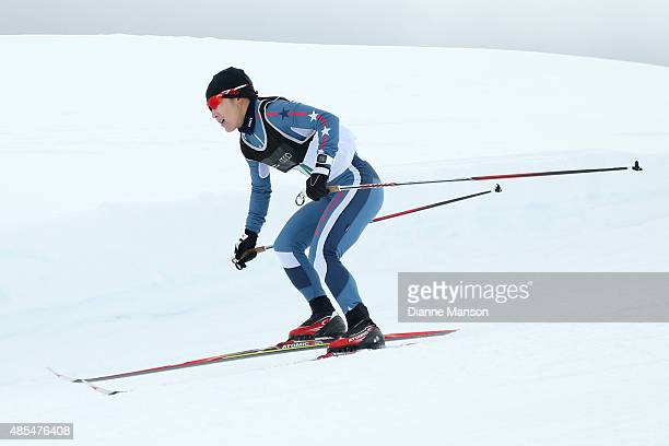ChaeWon Lee of Korea competes in the Ladies A Finals during the New Zealand FIS ANC Race Series Crosscountry during the Winter Games NZ at Snow Farm...
