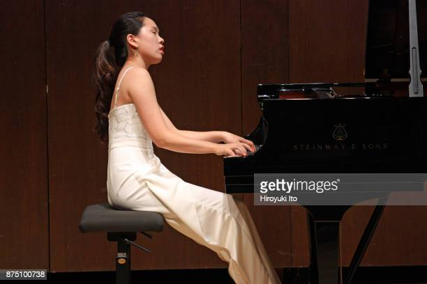 Chaeyoung Park the winner of the 2017 Gina Bachauer Piano Competition performing the music of Bach and Bartok at Paul Hall at the Juilliard School on...