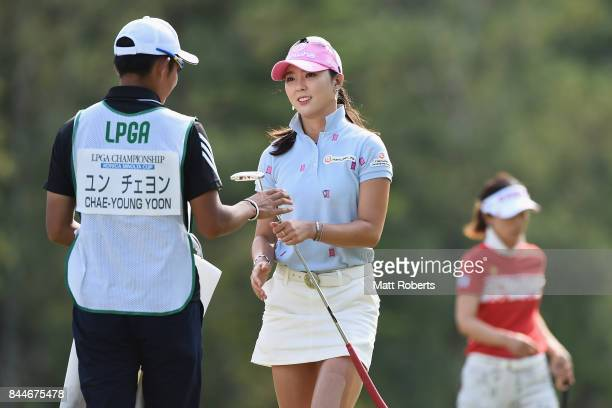 ChaeYoung Yoon of South Korea during the third round of the 50th LPGA Championship Konica Minolta Cup 2017 at the Appi Kogen Golf Club on September 9...