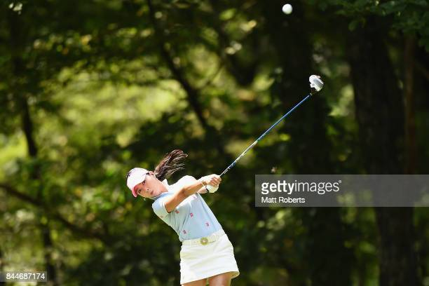 ChaeYoung Yoon of South Korea hits her tee shot on the 12th hole during the third round of the 50th LPGA Championship Konica Minolta Cup 2017 at the...