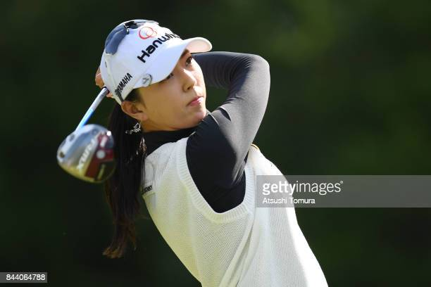 ChaeYoung Yoon of South Korea hits her tee shot on the 13th hole during the second round of the 50th LPGA Championship Konica Minolta Cup 2017 at the...